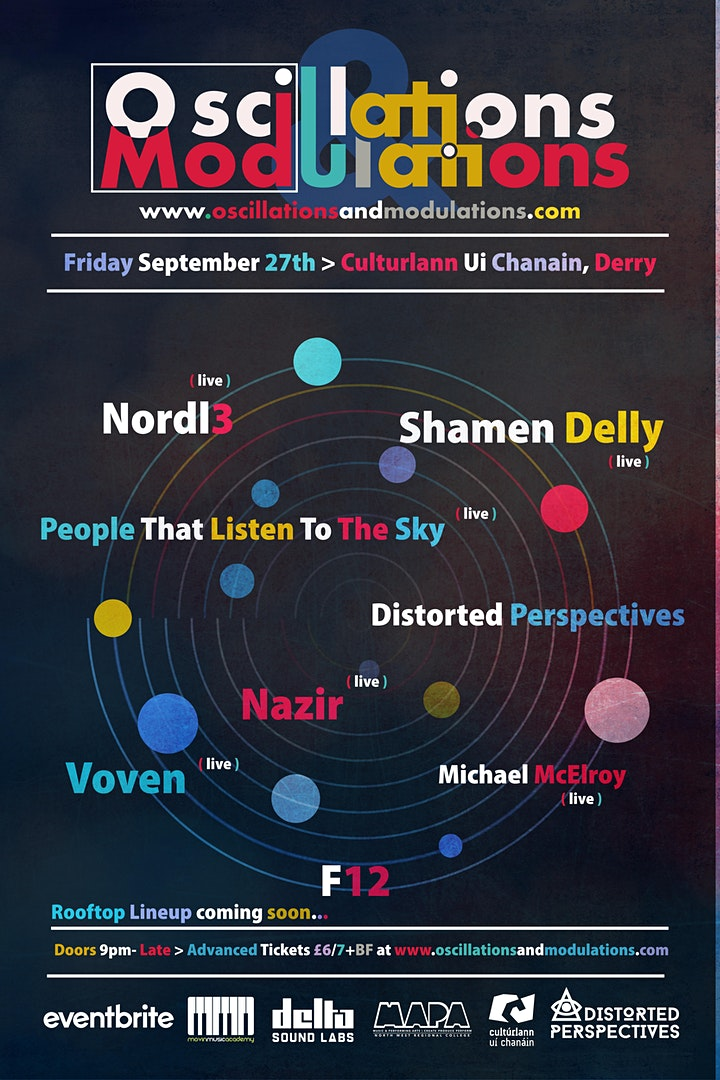 Oscillations And Modulations, Friday September 27th > Culturlann, Derry image