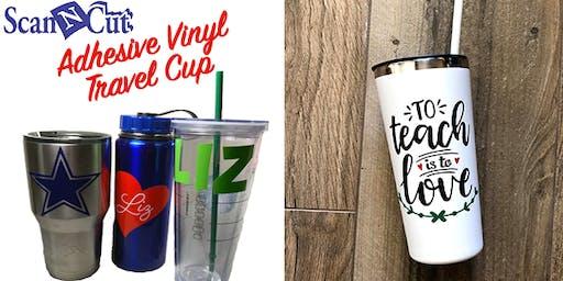 ScanNCut: Adhesive Vinyl Travel Cup