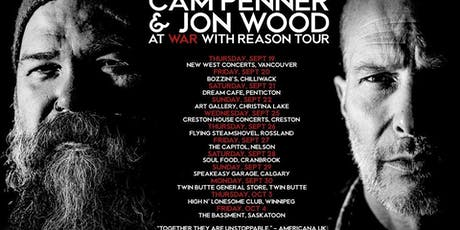 Cam Penner & Jon Wood: At war with reason tour tickets