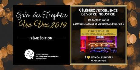 Gala des Trophées Uni-Vers 2019 billets