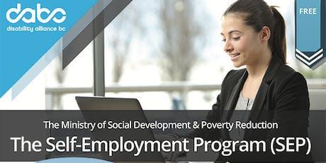 MSDPR-The Self-Employment Program (SEP) tickets