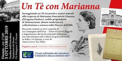UN TE' CON MARIANNA PANCIATICHI XIMENES D'ARAGONA PAULUCCI