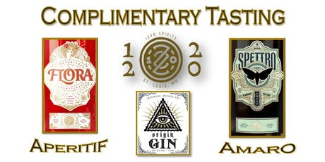 Complimentary 1220 Spirits Tasting tickets