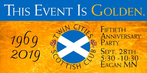 Twin Cities Scottish Club 50th Anniversary Party