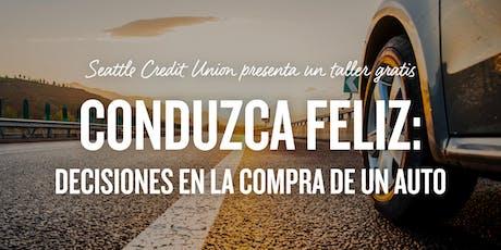 CONDUZCA FELIZ: DECISIONES EN LA COMPRA DE UN AUTO tickets