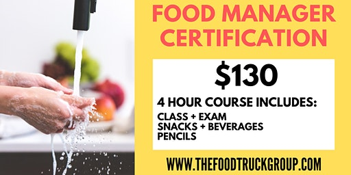 Food Manager Certification Class + Exam (4 hour)