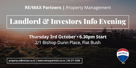 RE/MAX Partners Landlords & Investors Evening tickets
