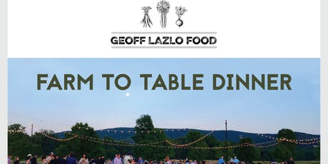 Dinner @ Millstone Farm to benefit Trout Unlimited presented by GEOFF LAZLO tickets