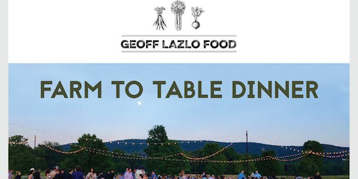 Dinner @ Millstone Farm to benefit Trout Unlimited presented by GEOFF LAZLO