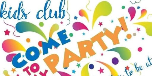 """COME TO MY PARTY""  Holiday Kids Club"