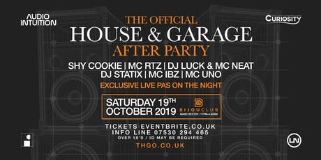 The Official House & Garage After Party tickets