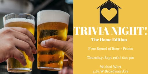 Trivia Night at Wicked Wort - The Home Edition - Free round of beer!