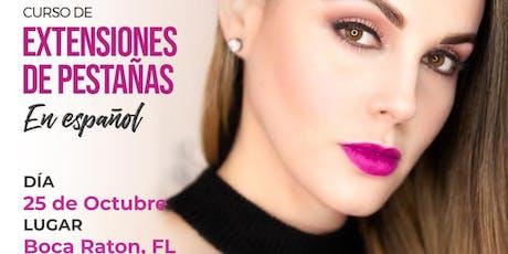 Curso de Extensiones de Pestañas - Boca Raton, FL tickets