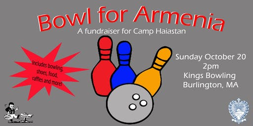 Bowl for Armenian- Camp Haiastan Fundraiser