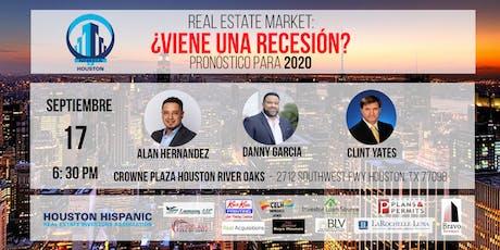 Viene una RECESION en Real Estate? Pronóstico 2020 tickets