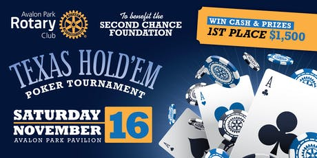 Rotary Club of Avalon Park 2nd Annual Poker Tournament tickets