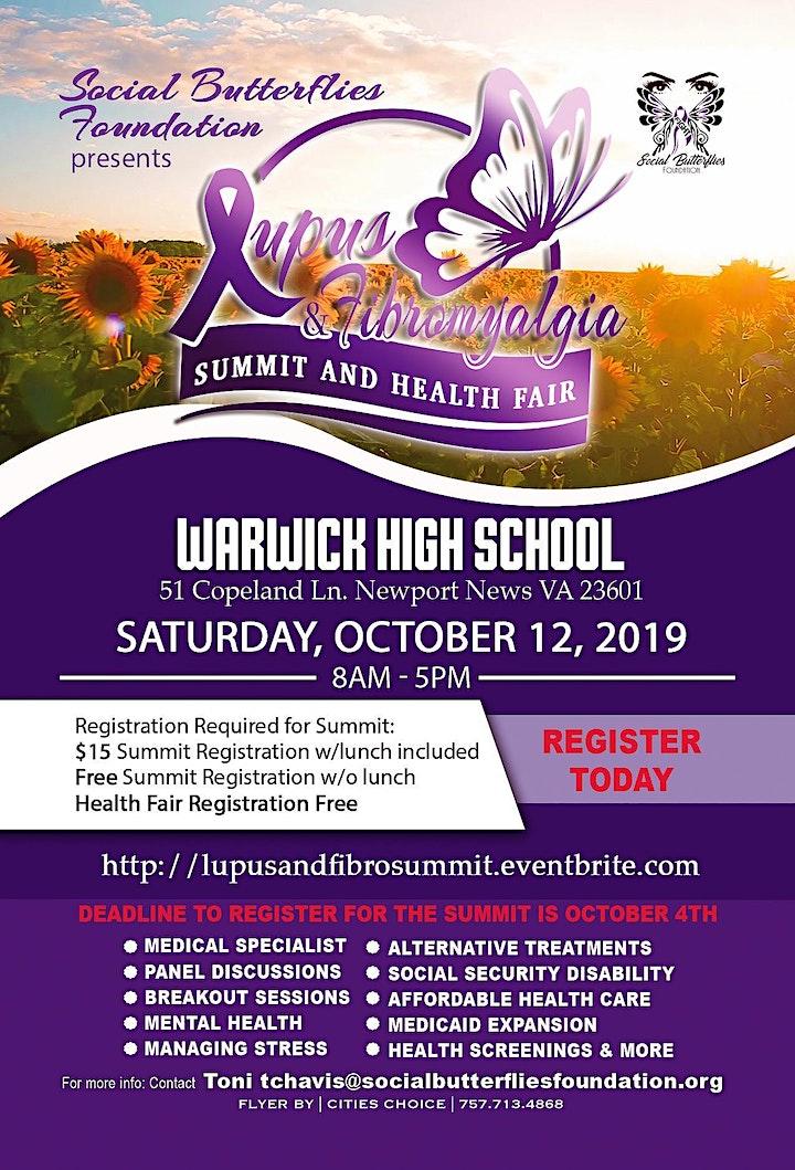 Lupus & Fibro Summit and Health Fair image