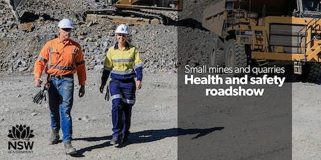 Small mines and quarries health and safety roadshow 2019 - Orange tickets