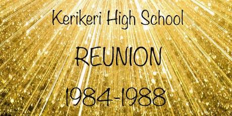 1984-1988 Kerikeri High School Reunion tickets