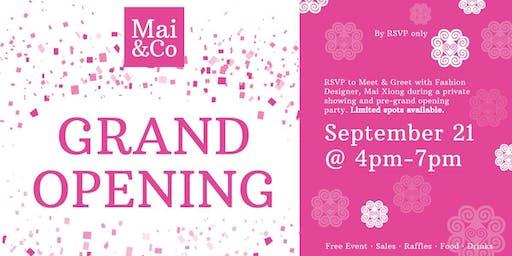 Mai&Co Pre-Grand Opening Event