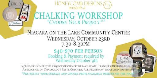 Chalking Workshop - October 23rd, Choose Your Own