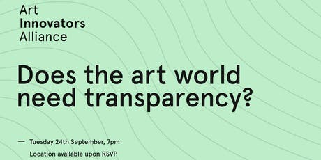 Does the art world need transparency? tickets