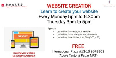 Learn to Create Website (Free Class) - Please Bring Laptop