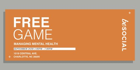 Free Game: Managing Mental Health tickets
