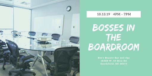 Bosses in the Boardroom