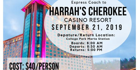 Express Coach To Harrah's Cherokee Casino Resort tickets