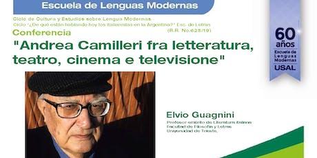 """Conferencia: """"Andrea Camilleri fra letteratura, teatro, cinema e televisione"""" entradas"""