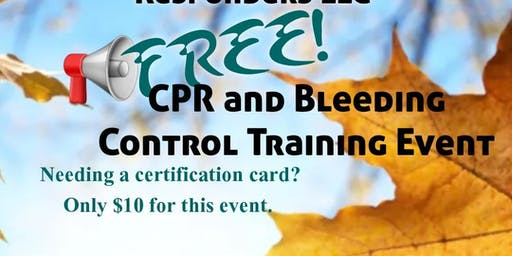 CPR and Bleeding Control Training Event