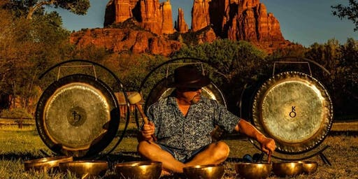 Introduction to sound healing, with Tibetan Singing bowls, and gongs.