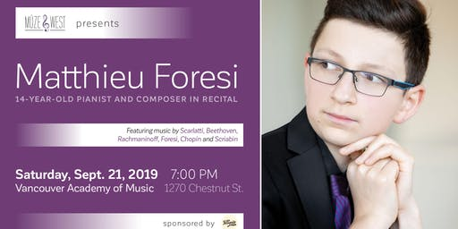 Matthieu Foresi, composer and pianist - in recital