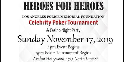 LAPMF HEROES for HEROES Celebrity Poker Tournament & Casino Night Party