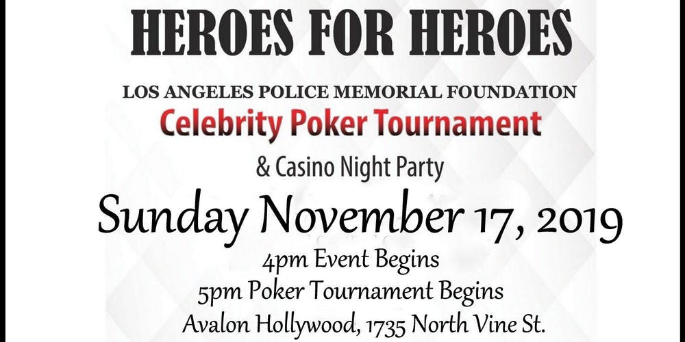 LAPMF HEROES for HEROES Celebrity Poker Tournament & Casino