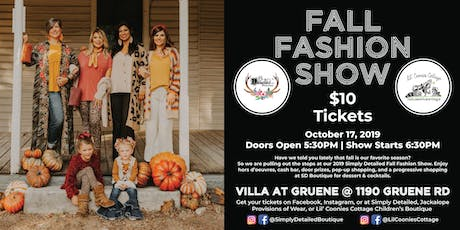 2019 Simply Detailed Fall Fashion Show tickets