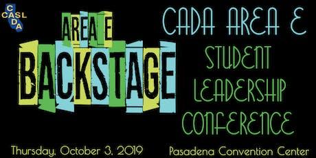 CADA Area E Student Leadership Conference tickets