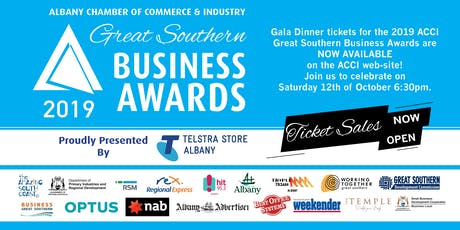 2019 ACCI Great Southern Business Awards Gala Pres tickets