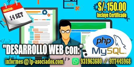 Desarrollo Web con PHP + MySQL (S/.150.00) entradas