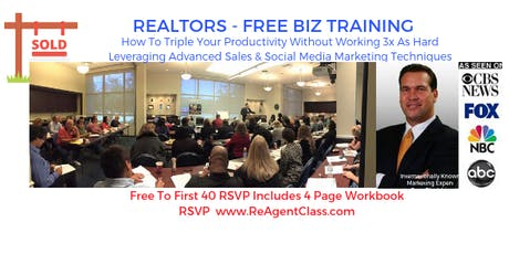 Real Estate Agent Marketing Secrets - Sales & Social Media Strategies To 3x Your Income tickets