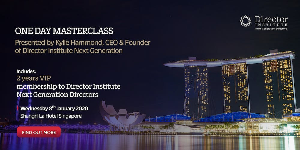 Director Institute Masterclass Singapore 2020 Tickets, Wed