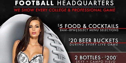 Crazy Horse Gentlemen's Club Football Headquarters (NFL & NCAA)