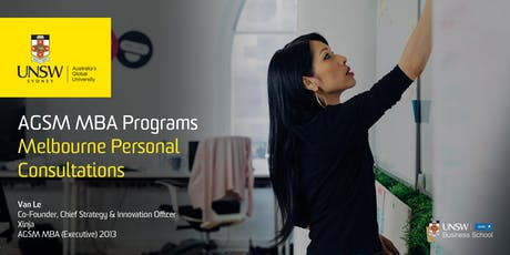 AGSM MBA Personal Consultations - Melbourne tickets