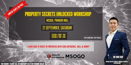 PROPERTY SECRETS UNLOCKED MASTERCLASS tickets