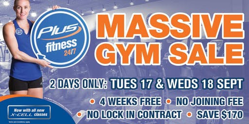 Plus Fitness Alexandria Massive Annual Gym Sale