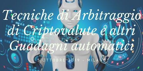 Arbitraggio Criptovalute biglietti