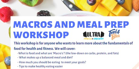 MACROS AND MEAL PREP WORKSHOP - Nutrition for Health and Fitness tickets