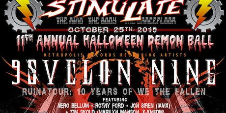 STIMULATE Annual Halloween Ball with PSYCLON NINE tickets
