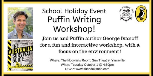 School Holiday Event: Puffin Writing Workshop with George Ivanoff